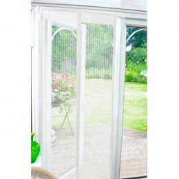 *NEW* Snap Screen Magnetised Door Insect Fly Screen Door Mesh (White) FREE P&P